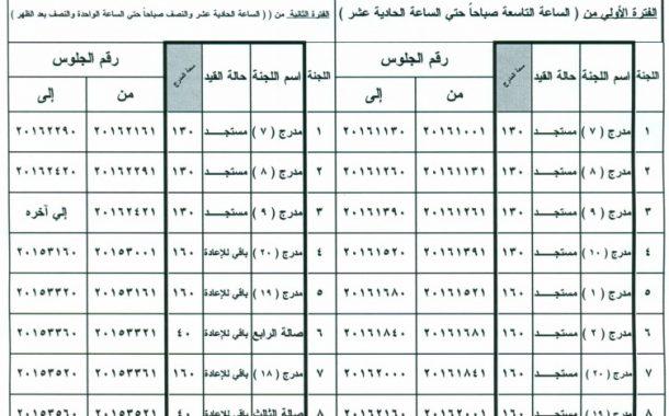 توزيع مقرات لجان امتحانات الفصل الدراسى الاول للفرق الدراسية الاربعة لعام 2016 / 2017