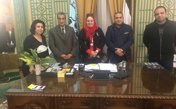 زيارة دكتورة كانزا - جامعة اكادير المغرب لاعداد اتفاقيه شراكة