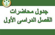جدول محاضرات الفصل الدراسى الأول للعام الجامعى 2018 / 2019