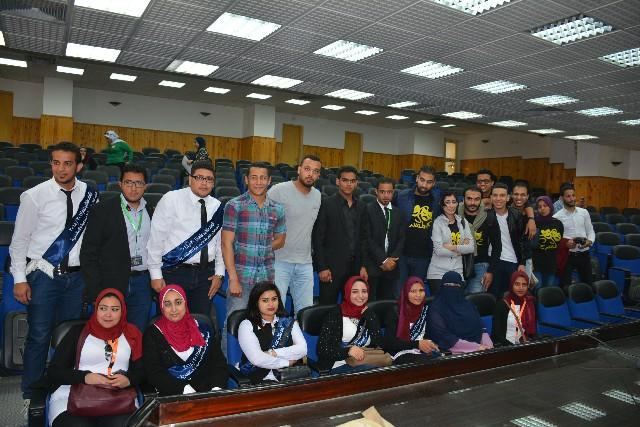زيارة كلية الخدمة الاجتماعية جامعة اسيوط للمعهد